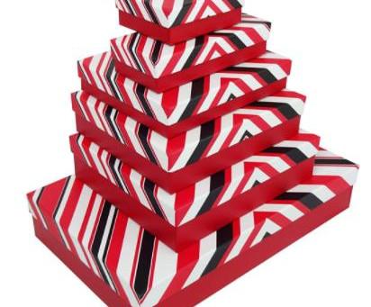Rigid Luxury Gift Boxes With Stripe Design Printing