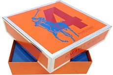 lift off lid rigid boxes with printed logo