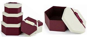 hexagon shape rigid gift boxes