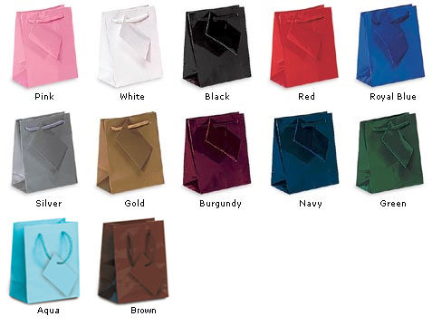 glossy euro tote gift bags with rope handle