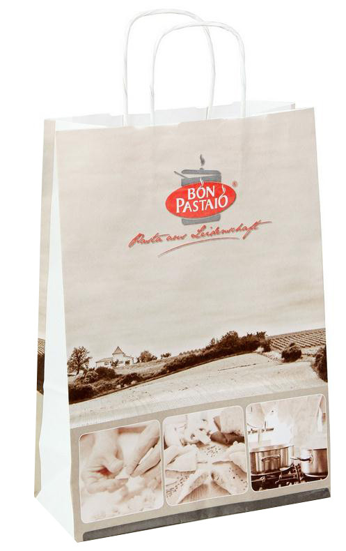 twisted handle white kraft paper bags