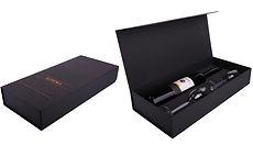 hinged lid rigid wine boxes