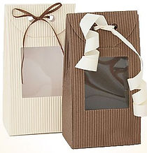 e flute gift bags with window