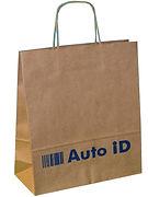 twisted handle brown kraft bags with printed logo
