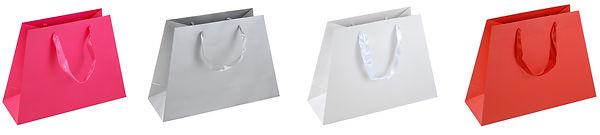 trapezoid shape euro tote gift bags