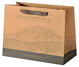 luxury brown kraft bags with custom printing