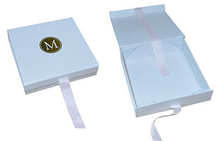 custom made collapsible rigid boxes with hotstamping logo