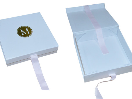 Custom Made Foldable Rigid Boxes With Hot Stamping Logo From Gift Box Mart