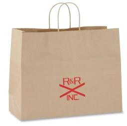 Printed Brown Paper Bags With Handle