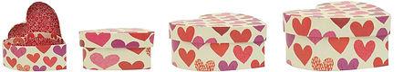 heart shape kraft gift boxes