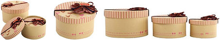 round shape recycled kraft gift boxes