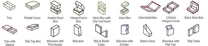 rigid boxes styles