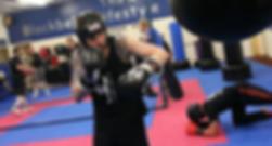 Kickboxing Bag Work at Black Belt Academy