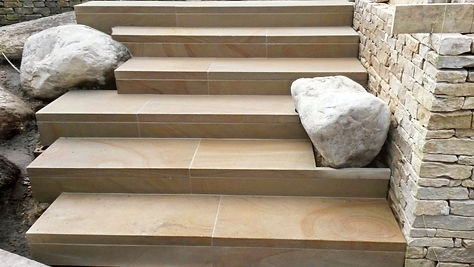 Dry Stone Walling & Paved Steps