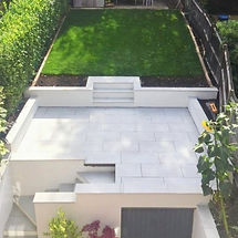 Garden Redesign with Porcelain Paved Patio