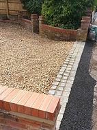 Granite setts driveway rumble strip just
