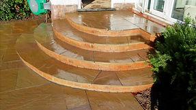 Indian sandstone paved steps in Berkamsted