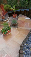 Indian Sandstone Paving with Log Roll Re