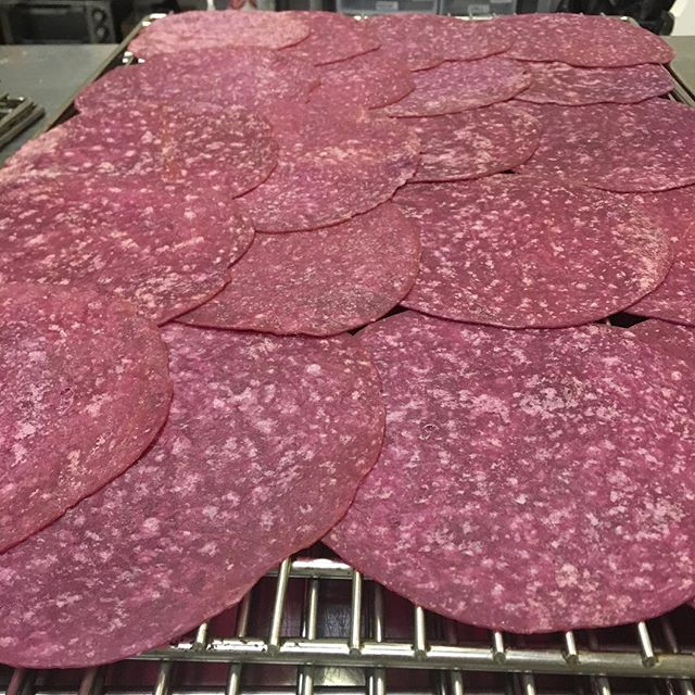 The finished product- Beet tortillas #nofilter