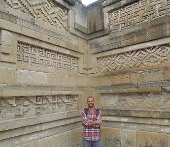 Cliff at Mitla ruins