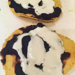 My new obsession- tlayudas! These Mexican pizzas have a retried bean base on a baked corn tortillas