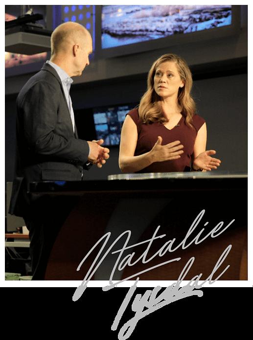Natalie Tysdal broadcasting on Denver KDVR Fox News