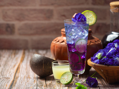 Sử dụng trà hoa đậu biếc thay nước lọc