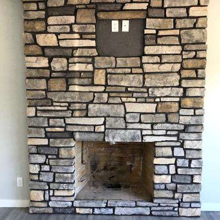 Vaneer Stone Fireplace