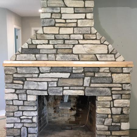 Unique Veneer Fireplace
