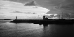 Howth harbour Lighthouse at Sunset