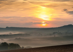 Sunrise in the Moravian Hills