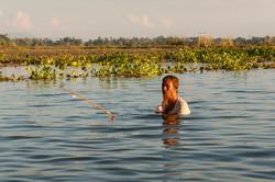 Fishing in Taungthaman Lake