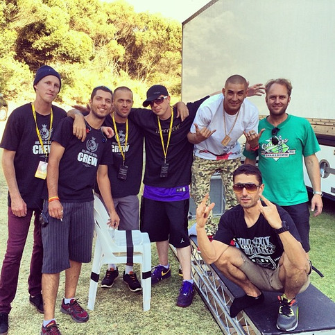 Backstage with the @blissneso28 crew bef