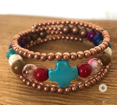 Paul's Story wire-wrap bracelet © (ws)