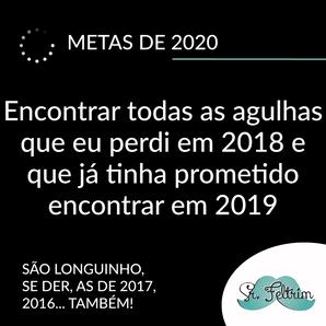 Qual a sua meta para 2020? Nós já fizemos as nossas! Confira! #humor