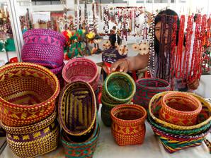 Espaço do artesão no Revelando SP na capital paulista