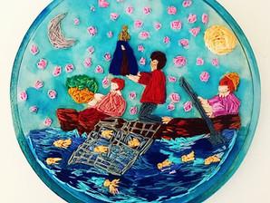 Fotografia e bordado na exposição 'Nossa Senhora', em Aparecida (SP)
