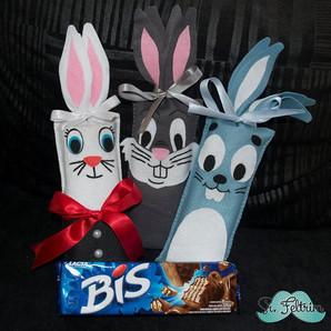 Porta-chocolate de coelhinho para todos os gostos! Inspire-se! #Páscoa