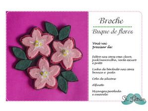 Broche 'Buquê de flores' #Molde
