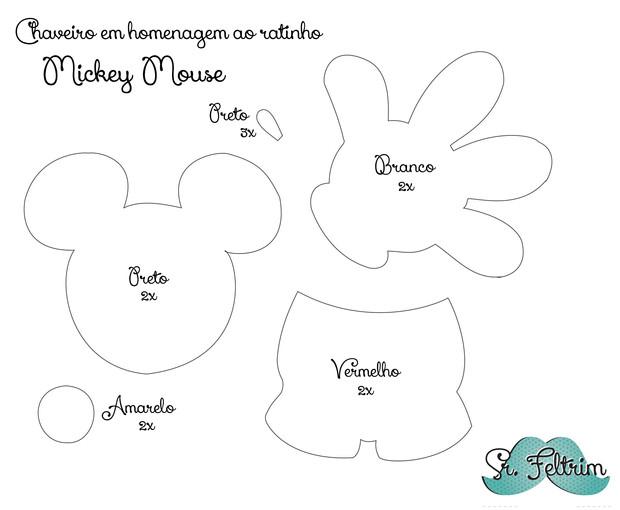 Molde Para Imprimir De Laco Lonita De Cilicone: Chaveiro Em Homenagem Ao Mickey Com Molde Gratuito E PAP