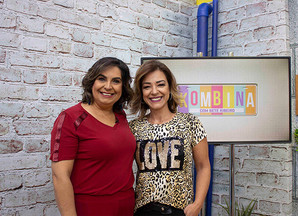 Apresentadora Bete Ribeiro e a TV Aparecida em feira de artesanato