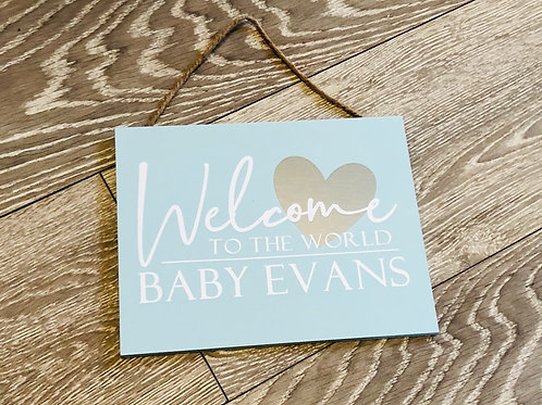 Welcome to the World Personalised Signs