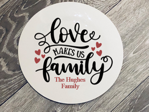 Family Love Plate - In support of Child Bereavement UK