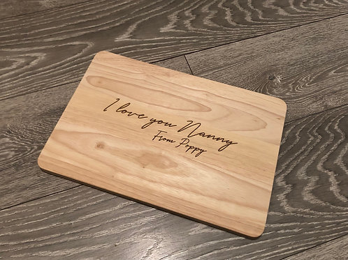 Personalised 'I love you' Chopping Board
