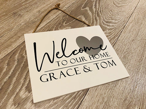Welcome to Our Home Personalised Wooden Signs