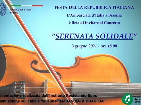 2 concertos ao vivo em streamig promovidos pela Emb. da Itália em Brasília para a Festa da República
