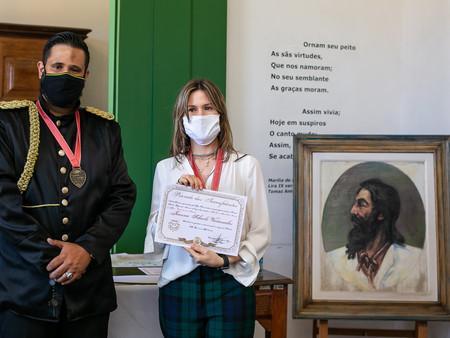 Artista Plástica Joanna Scharlé de Vasconcelos foi uma das condecoradas no dia 21 de abril