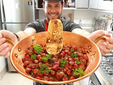 Chef Thiago Lima passa para o alimento a alegria e o bem estar com a vida!