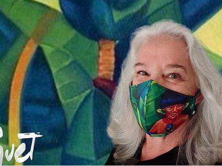 Clara Piquet - Máscaras assinadas com detalhes de suas pinturas preferidas