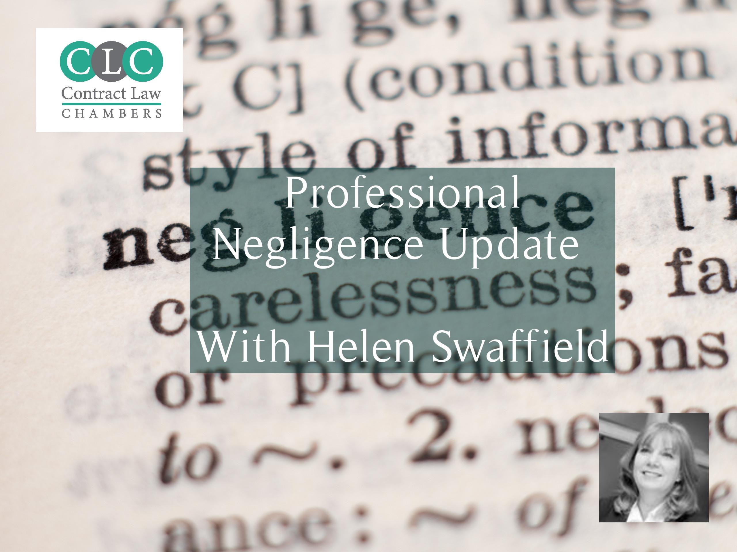 Professional Negligence Update